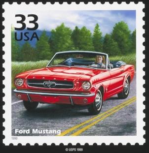 1964 Mustang Convertible Stamp