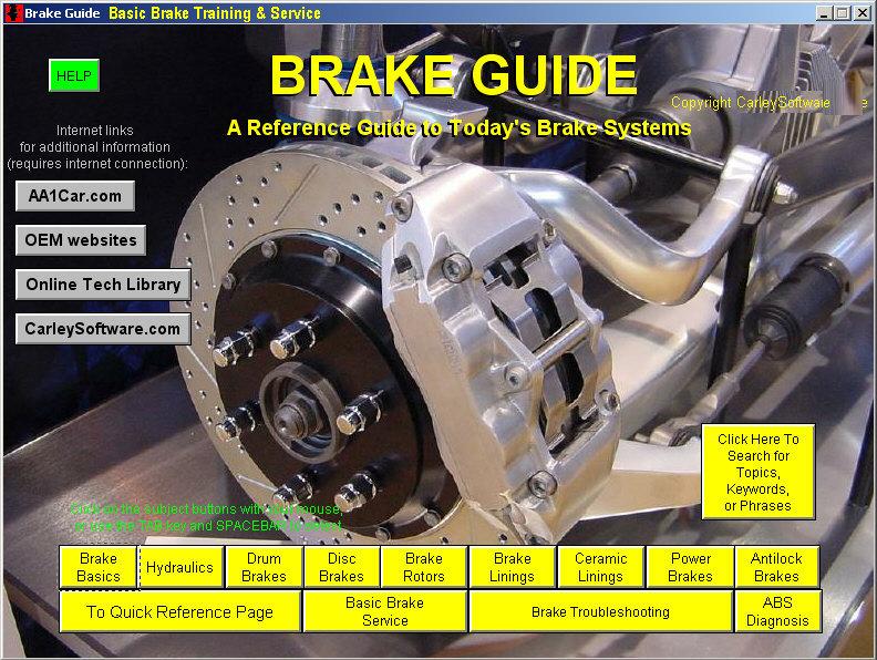 Brake Diagnosis Repair Training Software