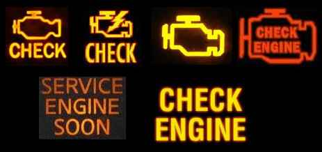 typical check engine lights
