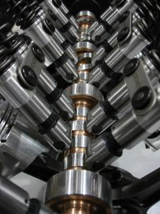 camshaft with roller lifters
