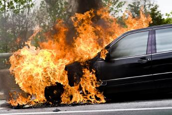 A fire extinguisher for cars sounds ridiculous until a car catches fire.