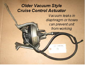 Cruise Control Vacuum on dodge electronic throttle control repair