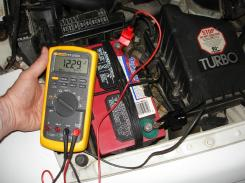Checking Battery Voltage With A Voltmeter