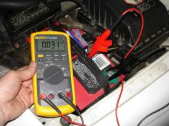 Checking Key Off Battery Cur Drain With An Ammeter