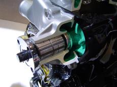 a bad water pump shaft seal can leak coolant
