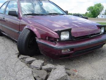 Driving Car Broken Suspension