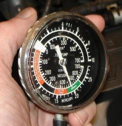 engine intake vacuum gauge reading